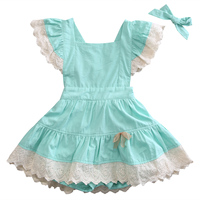 2017 Summer Baby Kids Girl Dress Butterfly Sleeves Floral Lace Dress Party Wedding Bridesmaid Dresses Sundress