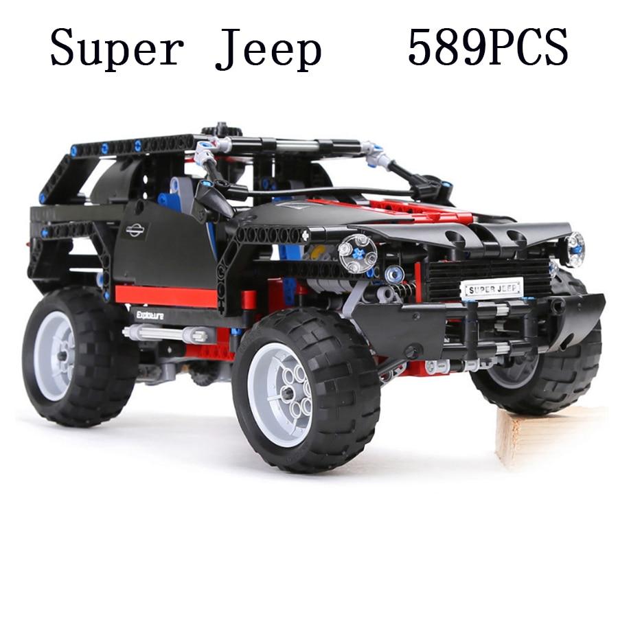 Lepin 7ron 3341 Extreme Cruiser SUV Racing Car Model Building Block Super Jeep Caes Eductional Toy DIY Brick LegoED Technic 8081