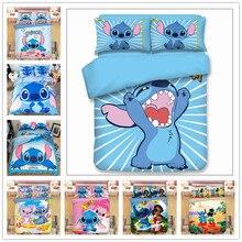 Disney Lilo & Stitch Bedding Set Children Duvet Covers Pillowcases Cartoon bed set Comforter Sets bedclothes linen