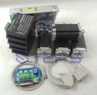 CNC Router 4 axis kit, 24 50VDC ST M5045 4.5A driver replace 2M542 +5 axis breakout board + Nema23 425 Oz in motor + 350W power