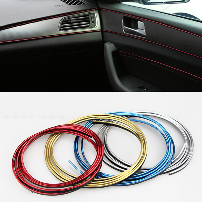 5m Car Styling Interior Decoration Accessories For Audi A1 A3 A5 A6 A8 A4 B6 B8 C5 C6 A7 Q3 Q5 Q7 TT R8