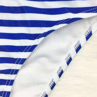 Brazilian Bikini Women Stripe Print Swimwear Thong Bikinis 4