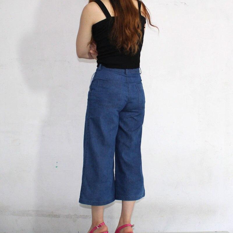 5243fc3511 Sexy Women Zipper Open Crotch Jeans Vintage Wide Leg Jeans Loose Water  Washed High Waist Thin Denim Pants Plus Size F89