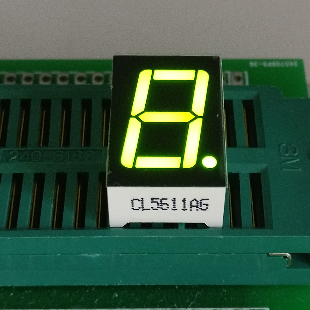 10PCS New  1 Bit 0.56 Inch Digital Tube LED Display  Yellow Green  Light 7 Segment Common Cathode/Anode