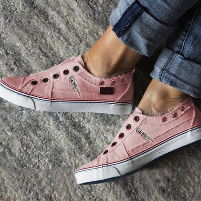 New Women Leisure Vulcanize Shoes Autumn Men Flat-Soled Sports Sports Shoes Lovers Solid Canvas Flat Sneakers Plus Size 35-43 3