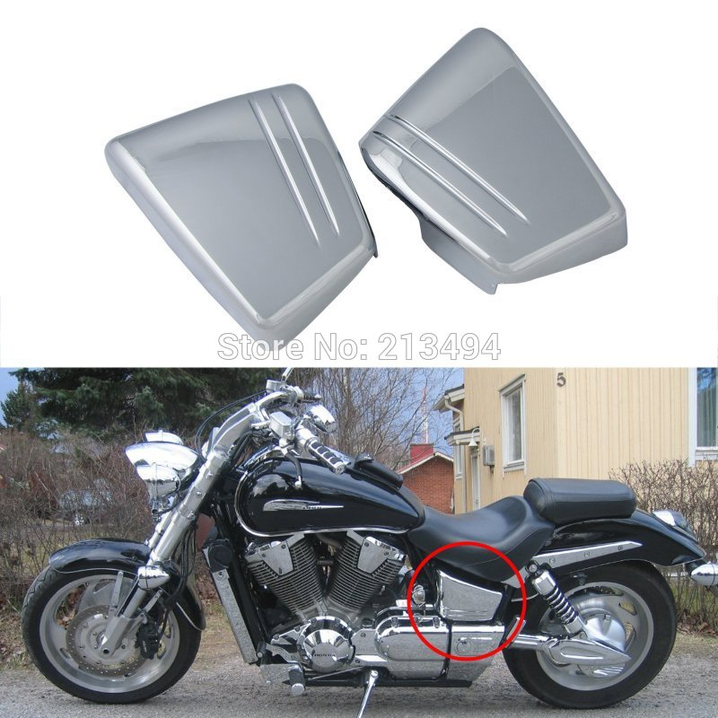Motorcycle Chrome Battery Side Fairing Cover Metal For ...