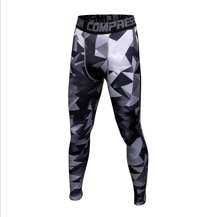 2017 Men Compression Pants Casual Jogger Tights Lycra Bodybuilding High Elasticity Joggers Base Layer Skinny Leggings