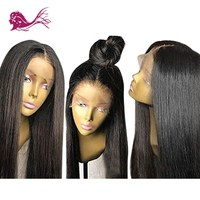 EAYON HAIR Full Lace Remy Brazilian Human Hair Wigs Natural Silky Straight With Baby Hair 130% Density Pre Plucked