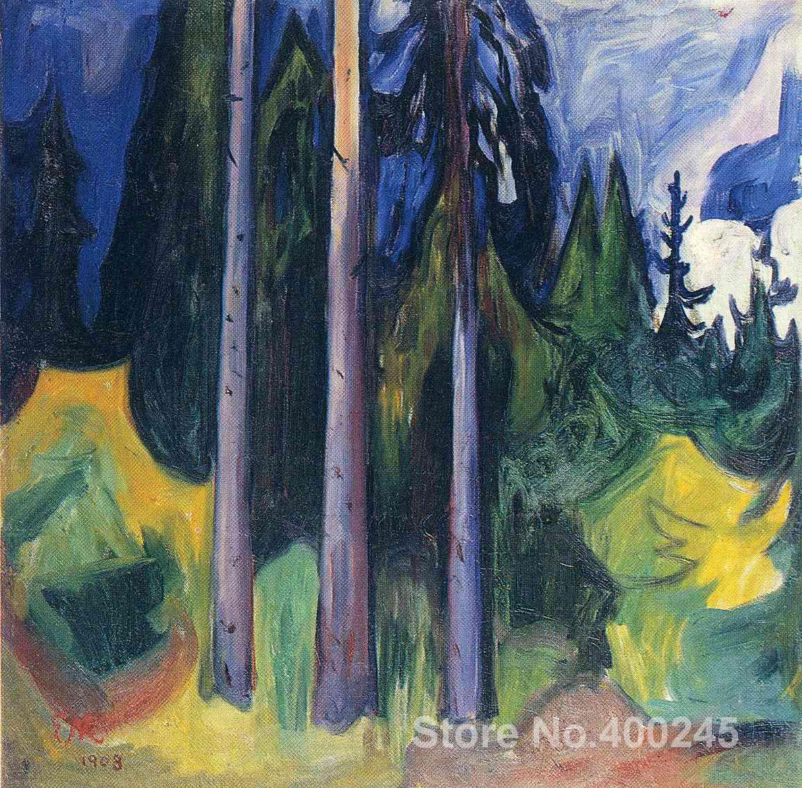 Forest Paintings by Edvard Munch modern art High quality Hand paintedForest Paintings by Edvard Munch modern art High quality Hand painted