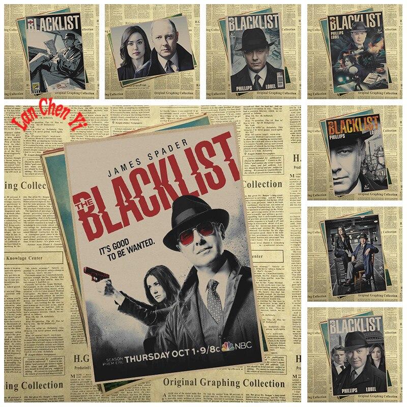 The Blacklist Nostalgic Matte Kraft Paper Poster Office Gift Room Dining Home Decor wall sticker Design