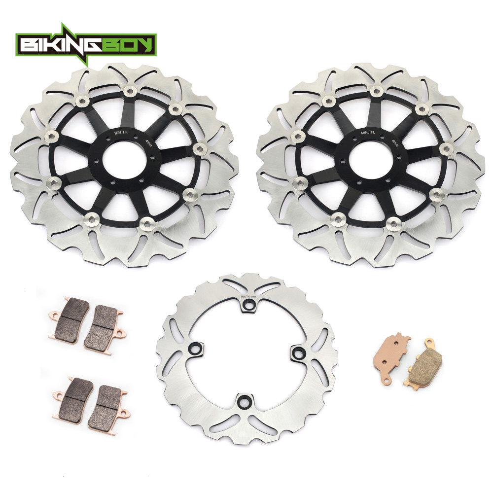 BIKINGBOY спереди и сзади тормозные диски роторов диски колодки для Honda CBR900RR Fireblade 94 95 96 97 VTR 1000 F Firestorm SuperHawk 97 06