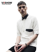Viishow Summer White Polo Shirt Men Europe  Hip Hop Causal Men Clothing Business Brand Polo Cotton Short Sleeve Shirt  PD66262