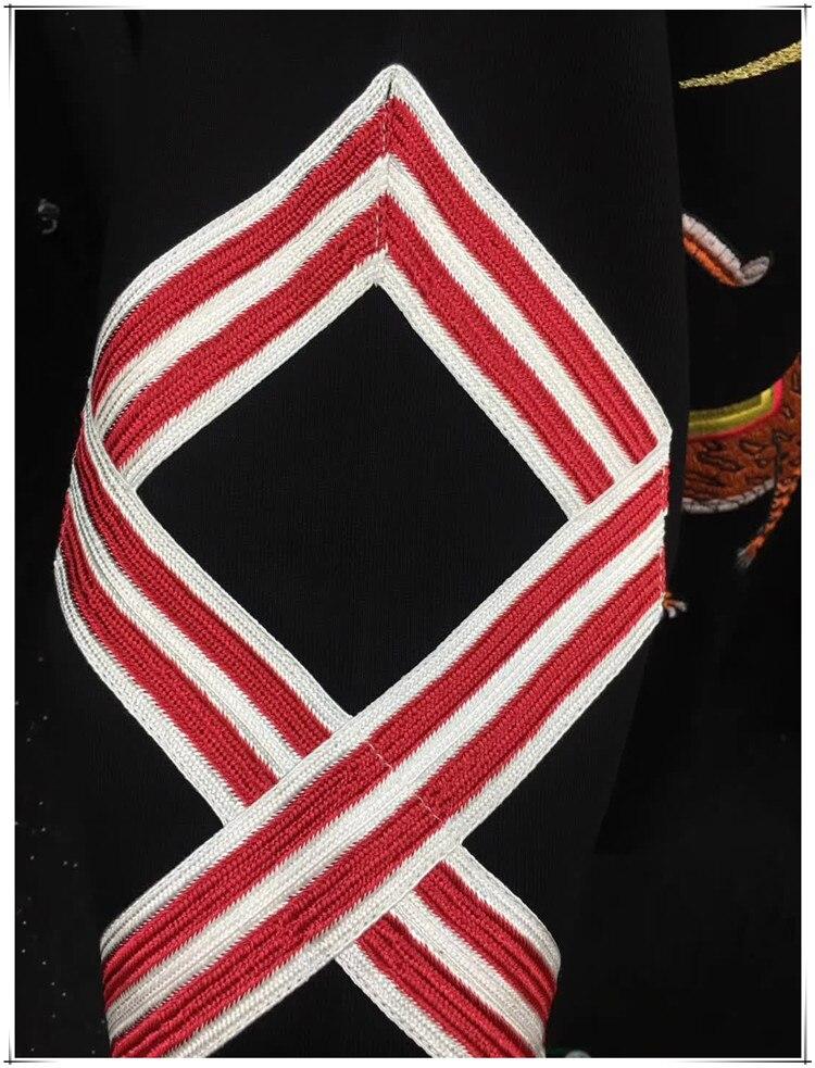 Новый Baolideng высокое Для мужчин Вышивка Леопардовый цветок толстовки Толстовка с капюшоном Кофты из вельвета и хлопка, Дрейк плотным ворсом #... - 3
