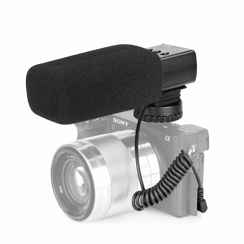 Mcoplus MK-MP21 Professional stereo camera recording microphone for Canon Nikon Olympus DSLR DV Camcorder for Digital Camer