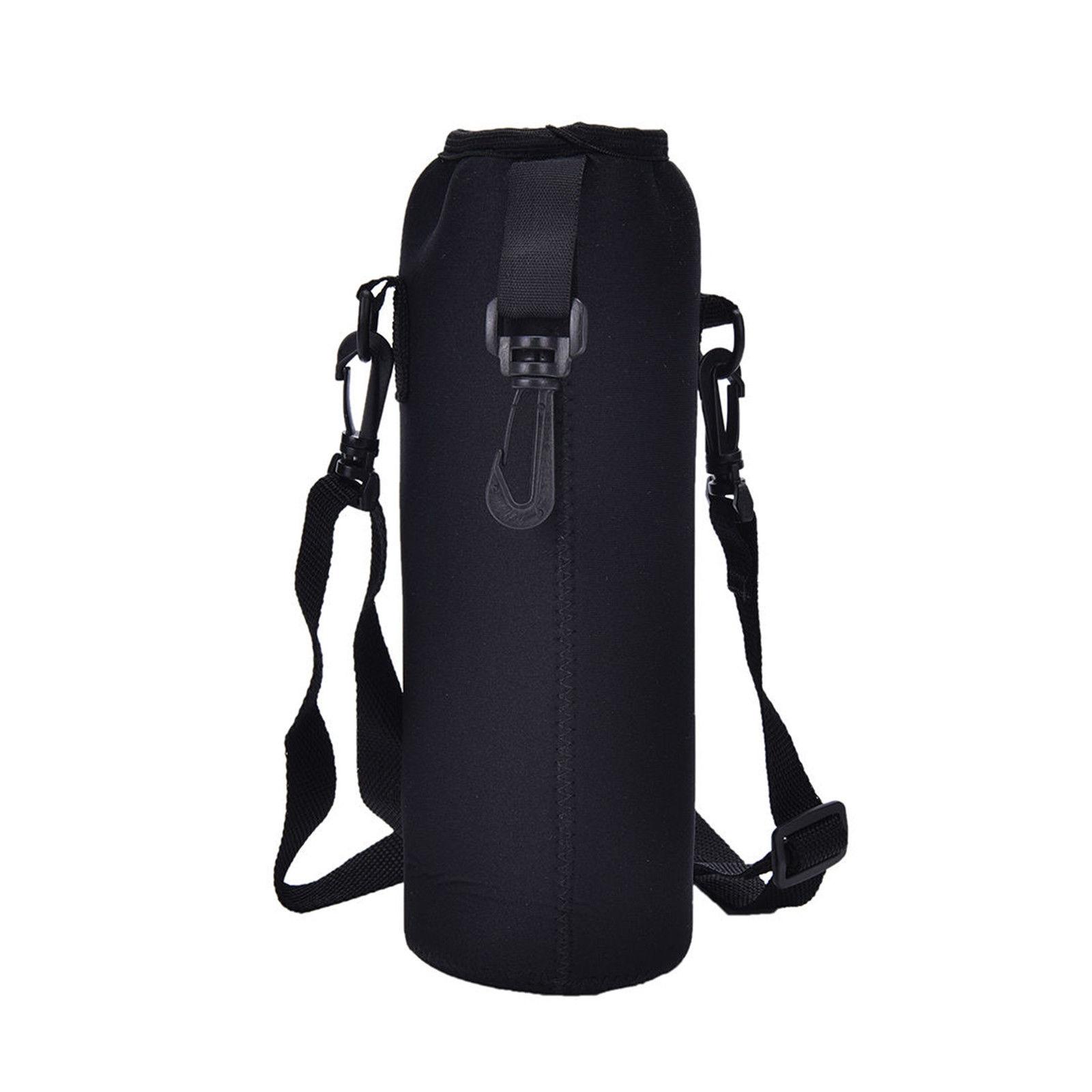 1000ML Water Bottle Cover Bag Pouch w/Strap Neoprene Water