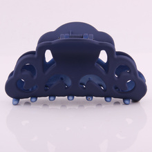 Newest Plastic Hair Claw For Women Hollow Out Floral Pattern Clamp Strong Bit Force Casual Washing Ponytail Holders