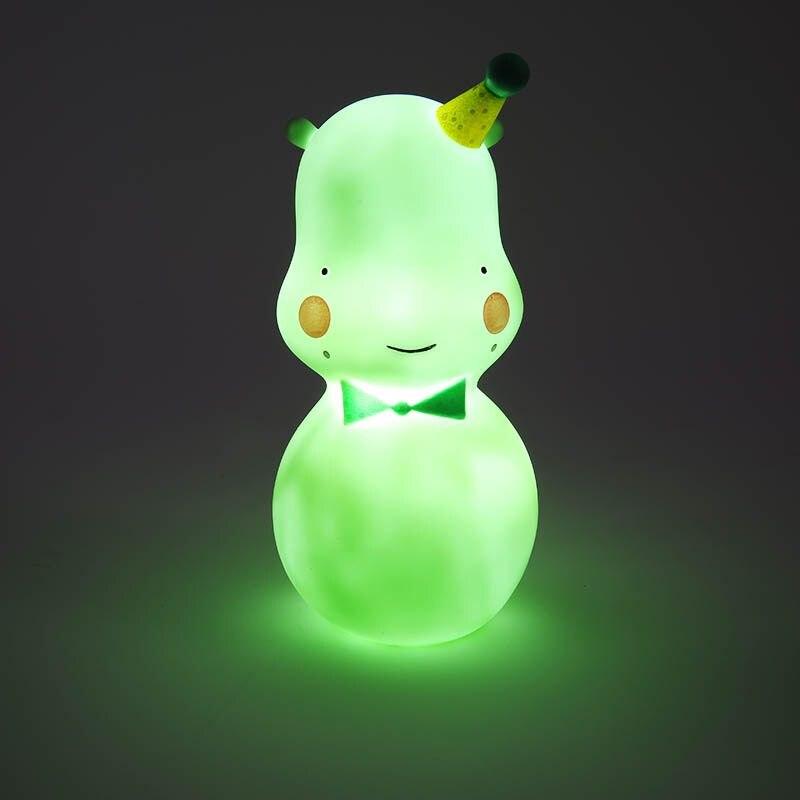 Бегемот свет в ночь подкладке ночники украшения Night Light Белый Розовый Зеленый лампа