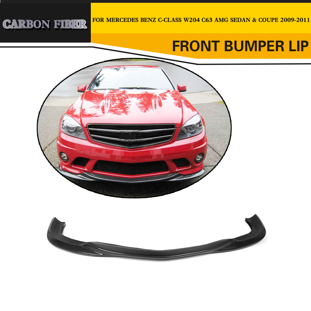 Carbon fiber auto front lip splitter car styling for for Mercedes benz spare parts price list