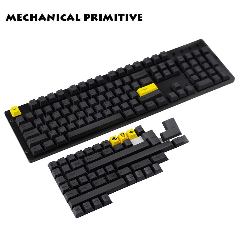 где купить  Gentleman KeyCap 151 Key PBT Sublimation English Korean Version Cherry Factory Height For Mechanical Gaming Keyboard  по лучшей цене