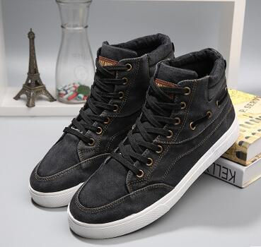 2019 hot men Masculino male high fashion canvas shoes men leisure canvas men' s shoes 39 44