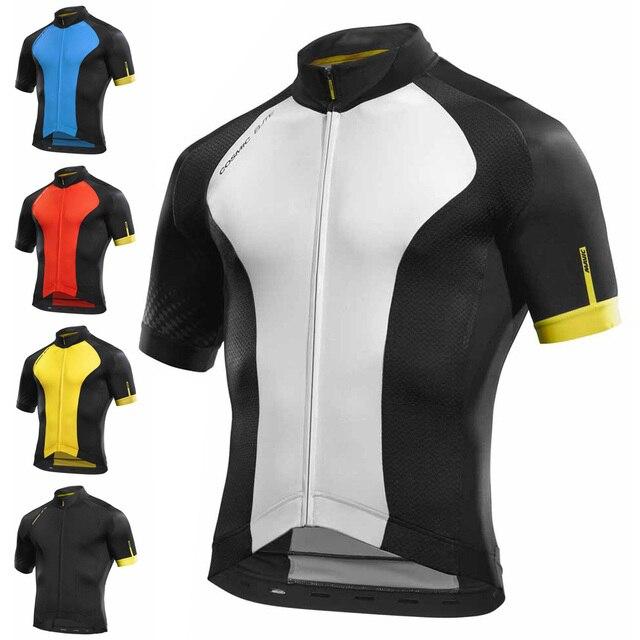Corrida MAVIC 2018 Topos de Ciclismo Jersey Verão de Ciclismo Roupas Ropa ciclismo Manga Curta Camisa Bicicleta mtb Camisa Maillot ciclismo