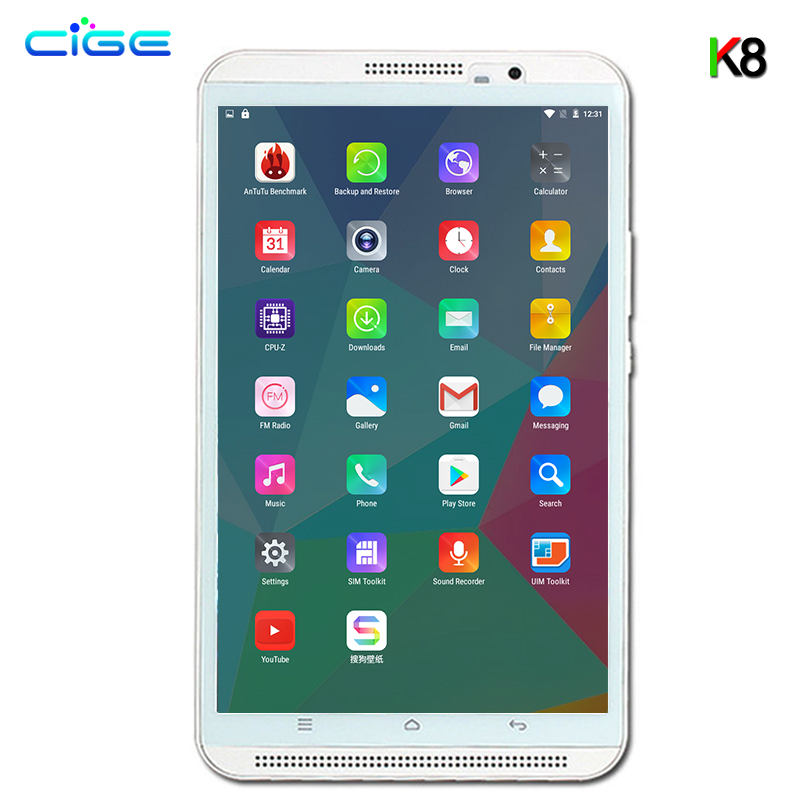 2018 Octa Core 8 pouces tablette 1280X800 Android 6.0 tablette 4 GB RAM ordinateur double SIM Bluetooth GPS 10 tablettes téléphone Mobile FHD 8