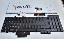 цена на Laptop Keyboard For Dell Precision M6400 M6500 M6400Z replacement keyboard LA Latin layout With backlit and black pointing