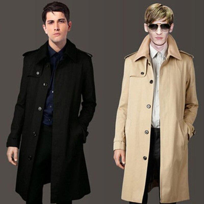 Men   Trench   Coat Windbreaker Jacket turn-down collar plus size 6XL 7XL 8XL 9XL Men   Trench   Coat long jacket Jackets & Coats