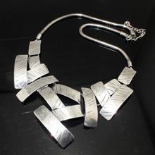 MANILAI Vintage Bib Choker Necklace Women Cross Metal Pendant Snake Chain Maxi Collar Statement Jewelry Fashion Accessories