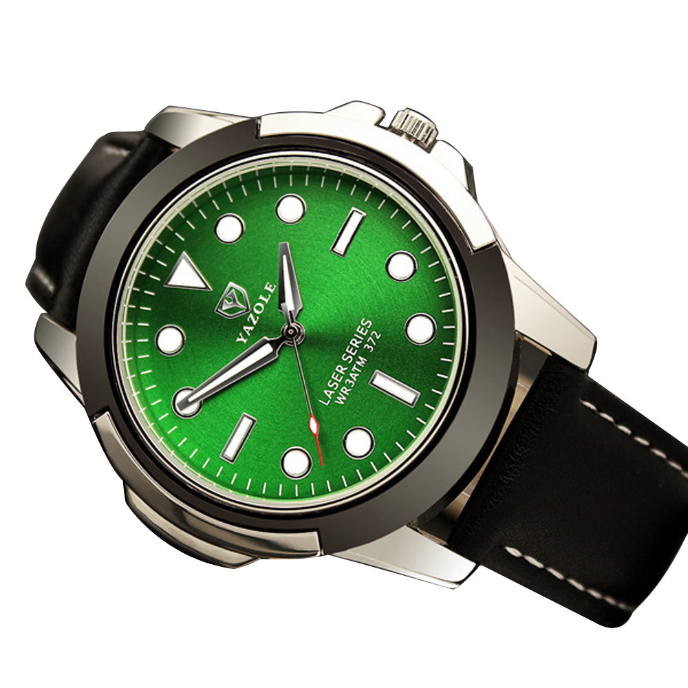 2017 Brand Quartz Watch Men Army Wrist Watches Men's Sports Watch Luminous Green Dropshiping Y7818