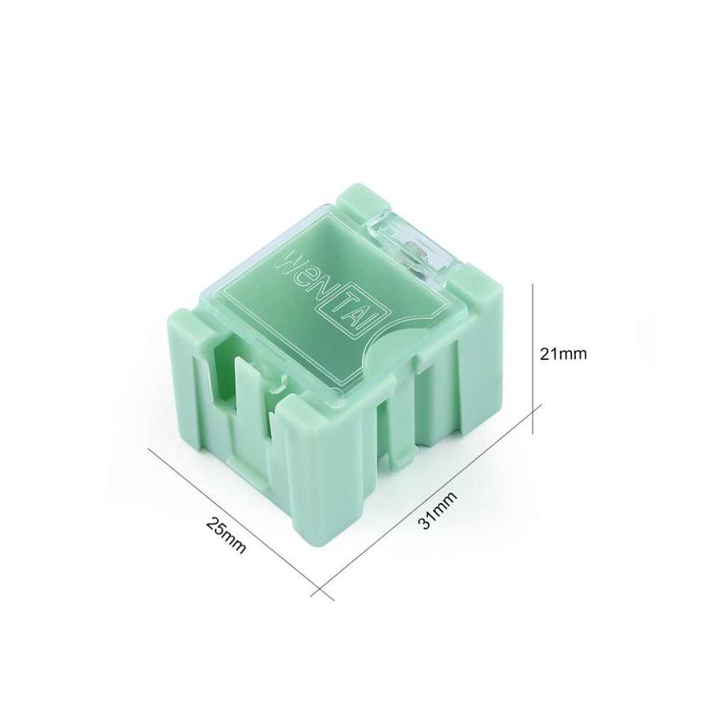 50pcs เครื่องมือขนาดเล็กสกรูวัตถุส่วนประกอบอิเล็กทรอนิกส์กล่องเก็บห้องปฏิบัติการกรณี SMT SMD โดยอัตโนมัติ Pops Up Patch คอนเทนเนอร์
