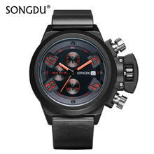 SONGDU Luxury Brand Military Watches Men Quartz Analog 3D Face Durable Silicone Band Man Sports Watch Army Male Hours Hot Sale