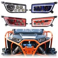 Для Polaris бритвы RZR 900 1000 автомобиля светодиодный Ангел глаз фар DC 12 24 В высокий низкий пучок белый дневной дневного света 12,5X6,9 дюймов