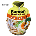BKYOGA Fashion Yellow Noodle Soup Food 3D Painted sweatshirt hoodies long sleeve Suit Hoodie Outside Woman Sudaderas Drop ship