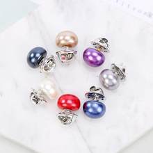 Classic Simple Pearl Collar Pin Buckle Brooch Collar Fashion Women Costume Brooches Pearl Beads Pin Jewelry Casual Decor Gift(China)