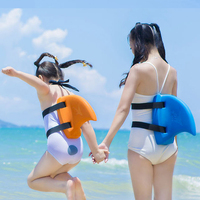 2019 EVA Swimming Fins Swim Floating Children Adult Learn Swim Thicker Float Shark Fins Pool Buoyancy Swimming Aids Water Sports