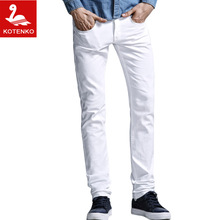 KOTENKO Brand Men Jeans Denim Cotton 2016 mens Straight Leg jeans long slim fit casual trousers