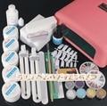 36W Lamp Bulbs Dryer Glitter Polish Nail Art UV Gel Manicure Curing Tips Set Kit 110V 220V for select
