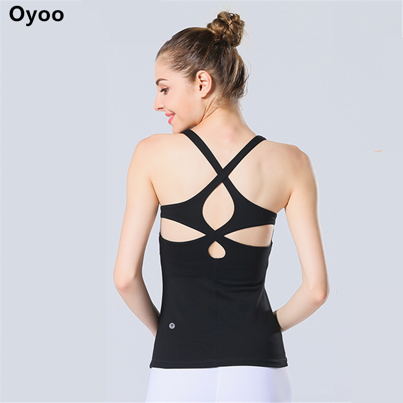 oyoo women 39 s circle cutout yoga tank tops with built in
