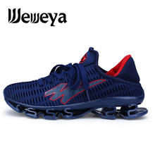 Weweya Big Size Springblade Sneakers Men Cushioning Running Shoes Outdoor Jogging Shoes Sport Hollow Trainers Male Plus Size 48(China)