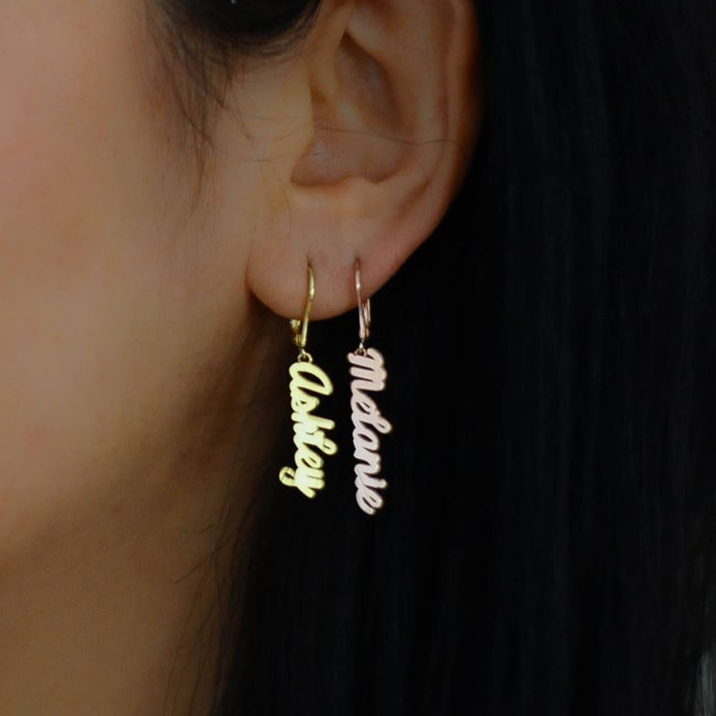 Name Earrings Personalized Earrings Gold Name Earrings Custom Name Earrings Personalized Name Earrings Stainless Steel Earrings