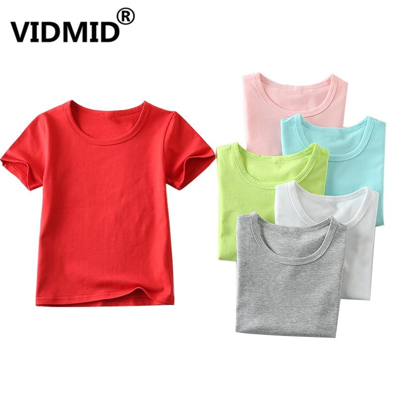 VIDMID T-Shirts Clothing Tops Baby-Boys-Girls Kids Cotton Children Summer Casual 2001