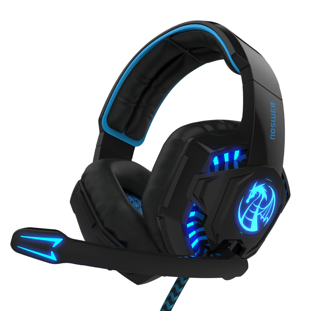 buy noswer i8 led stereo over ear headphones headband gaming headset with. Black Bedroom Furniture Sets. Home Design Ideas