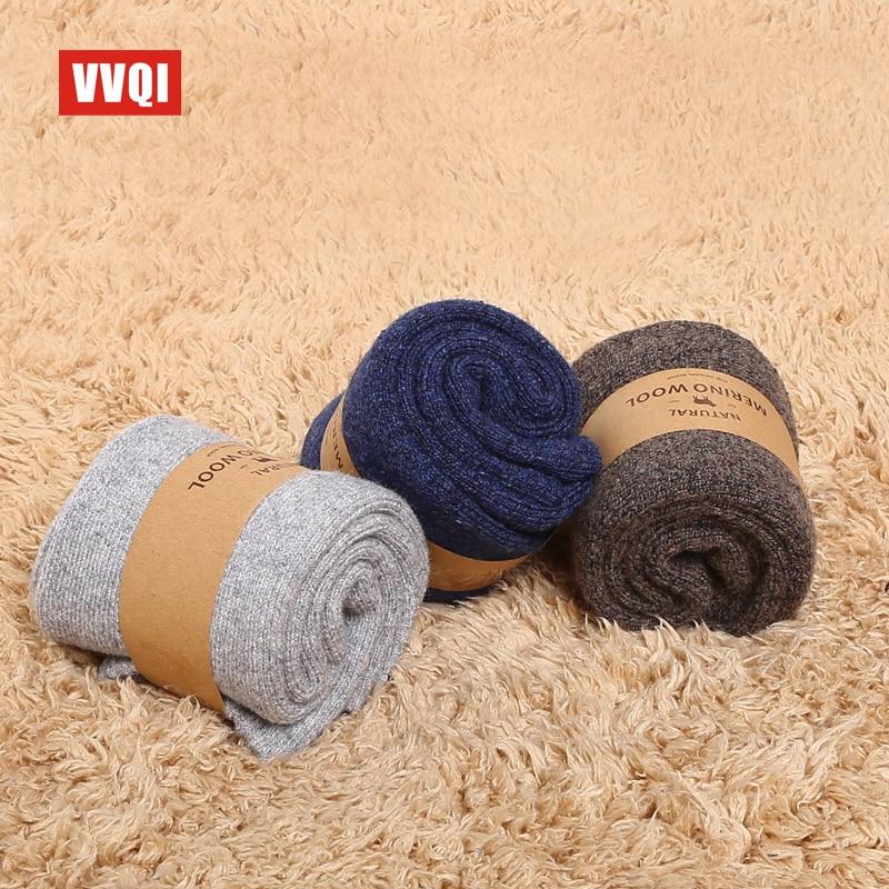 VVQI Brand Merino wool socks Japanese style winter towel cashmere socks sleep warm men Slipper Socks 4 pairs velvet dress socks in Men 39 s Socks from Underwear amp Sleepwears