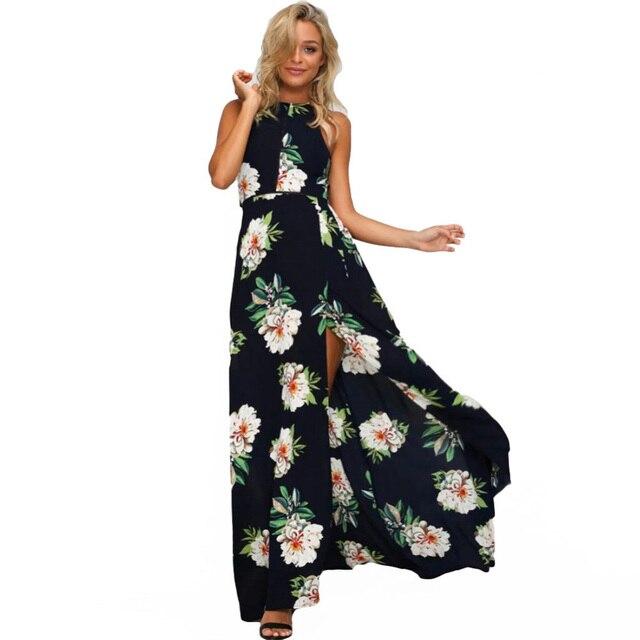 lange jurk met bloemenprint