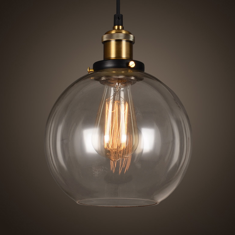 Vintage hanglamp kom glazen hanglamp Edison licht hanglamp Keuken - Binnenverlichting - Foto 2