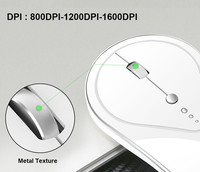 התאורה האחורית 2.4G Wireless נטען LED עם התאורה האחורית מקלדת USB ארגונומי Gaming Mouse סטים (4)