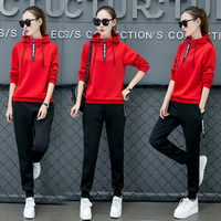 Spring Autumn Female Tracksuit Long Sleeve Pant With Hooded Casual Slim Outerwear 3XL Fashion Women Sets