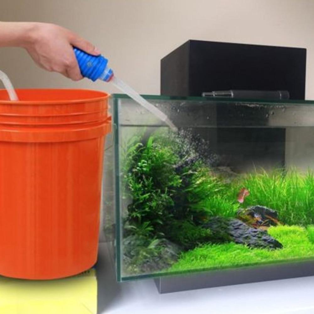Аквариум вакуумный водный обмен гравий инструмент для очистки всасывающей трубы аквариумные аксессуары сифонный насос фильтр трубка