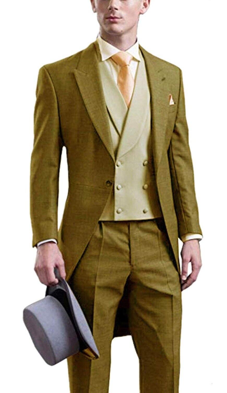 3620c5c1b2c52d burgundy Pezzi Modo giacca 2019 Smoking Vestito blue Scialle Pants Risvolto  Uomo Da Slim Giallo 3 ...